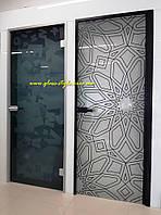 Стеклянные межкомнатные двери алюминиевые, фото 1