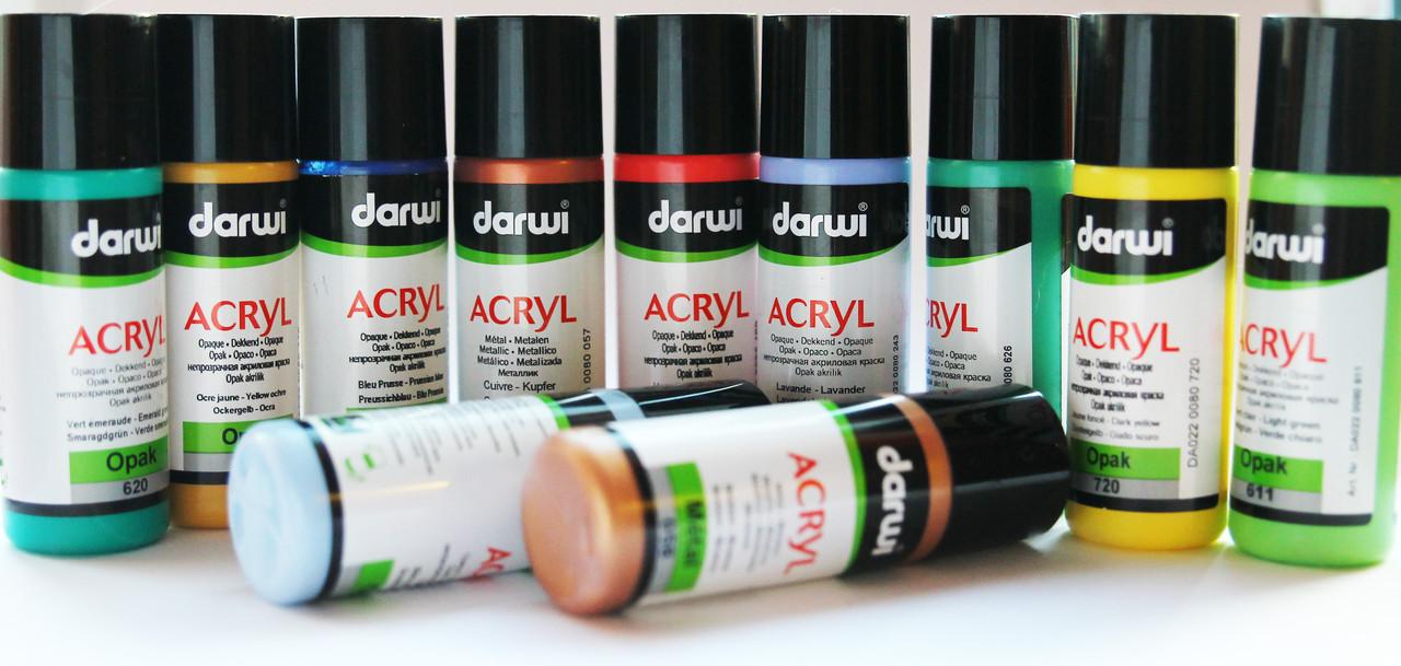 Акриловая телесная краска Darwi, для декоративных работ, объем 80мл,  телесный 425