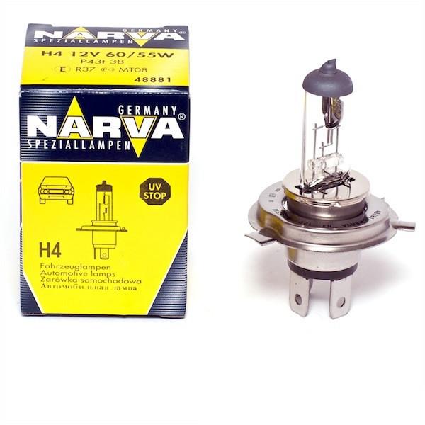 Галогенная лампа Автолампа NARVA H4 12V 60/55 W P43t