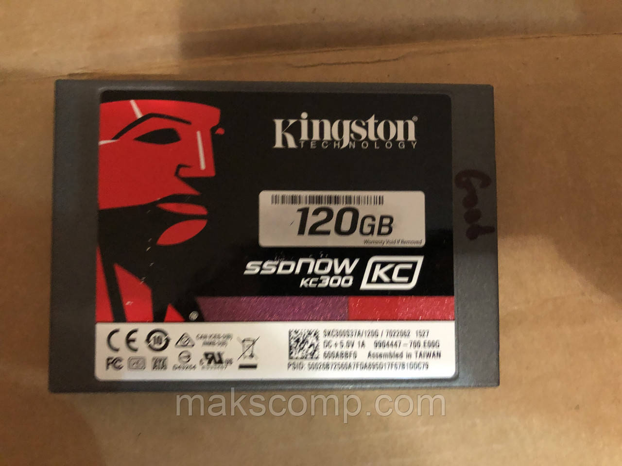 "SSD Kingston KC300 120GB 2.5"" SATAIII MLC (SKC300S37A/120G)"