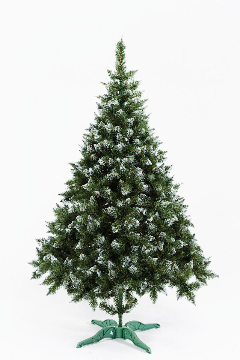 """1,5м Ёлка искусственная """"Рождественская"""" зеленая с белыми кончиками"""