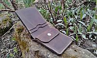 Кожаный кошелёк коричневого цвета, фото 2