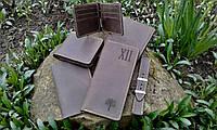 Кожаный кошелёк коричневого цвета, фото 4