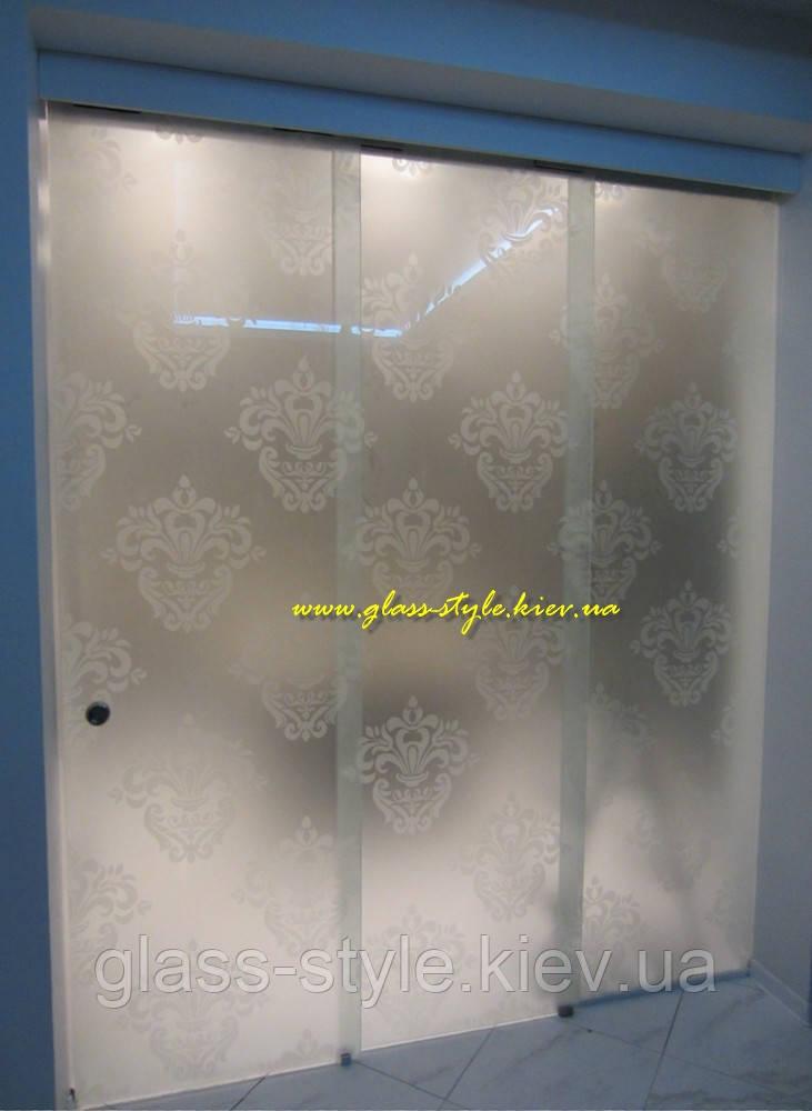Телескопическая стеклянная дверь