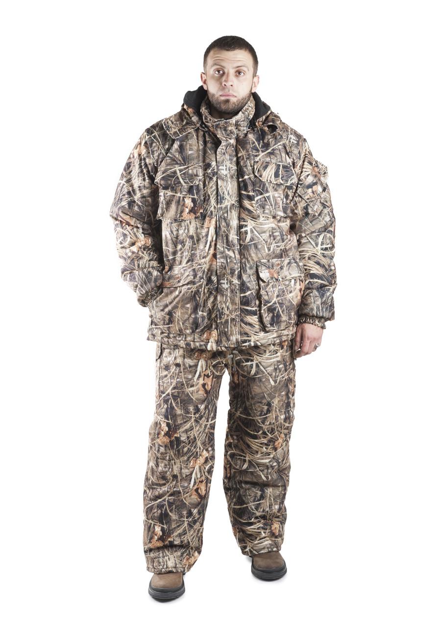 Зимовий костюм для полювання та риболовлі Очерет, непродуваємий, теплий і надійний, всі розміри 48-50