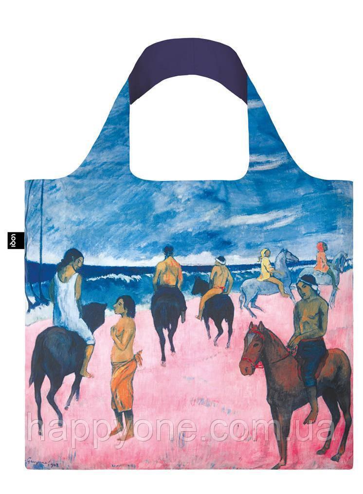 Сумка для пляжа и покупок PAUL GAUGUIN Horseman on the Beach 1902 LOQI