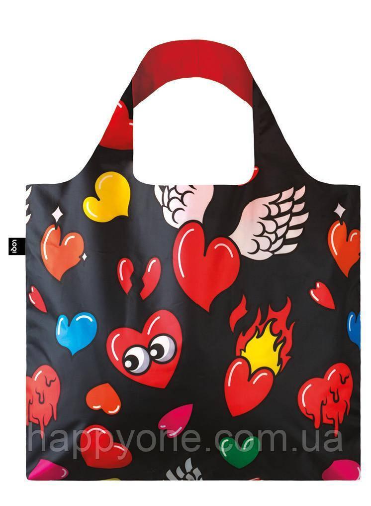 Сумка для пляжа и покупок POP Hearts LOQI