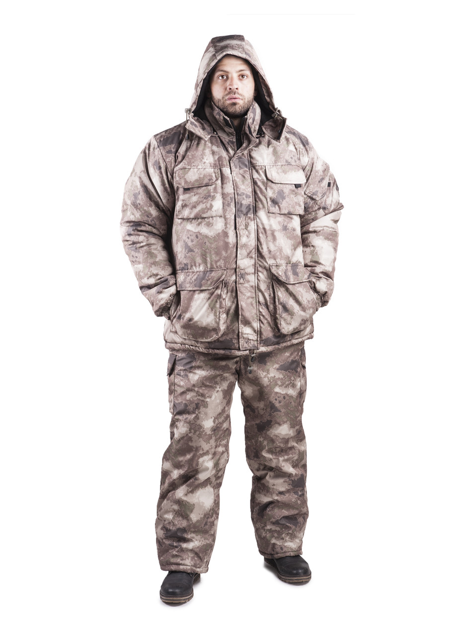 Зимовий костюм для полювання та риболовлі Атакс, непродуваємий, теплий і надійний, всі розміри 48-50