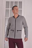 Бомбер мужской серый Fashion