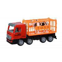 Спецтехника Same Toy инерционный Super Combination Грузовик красный для перевозки (98-82Ut)