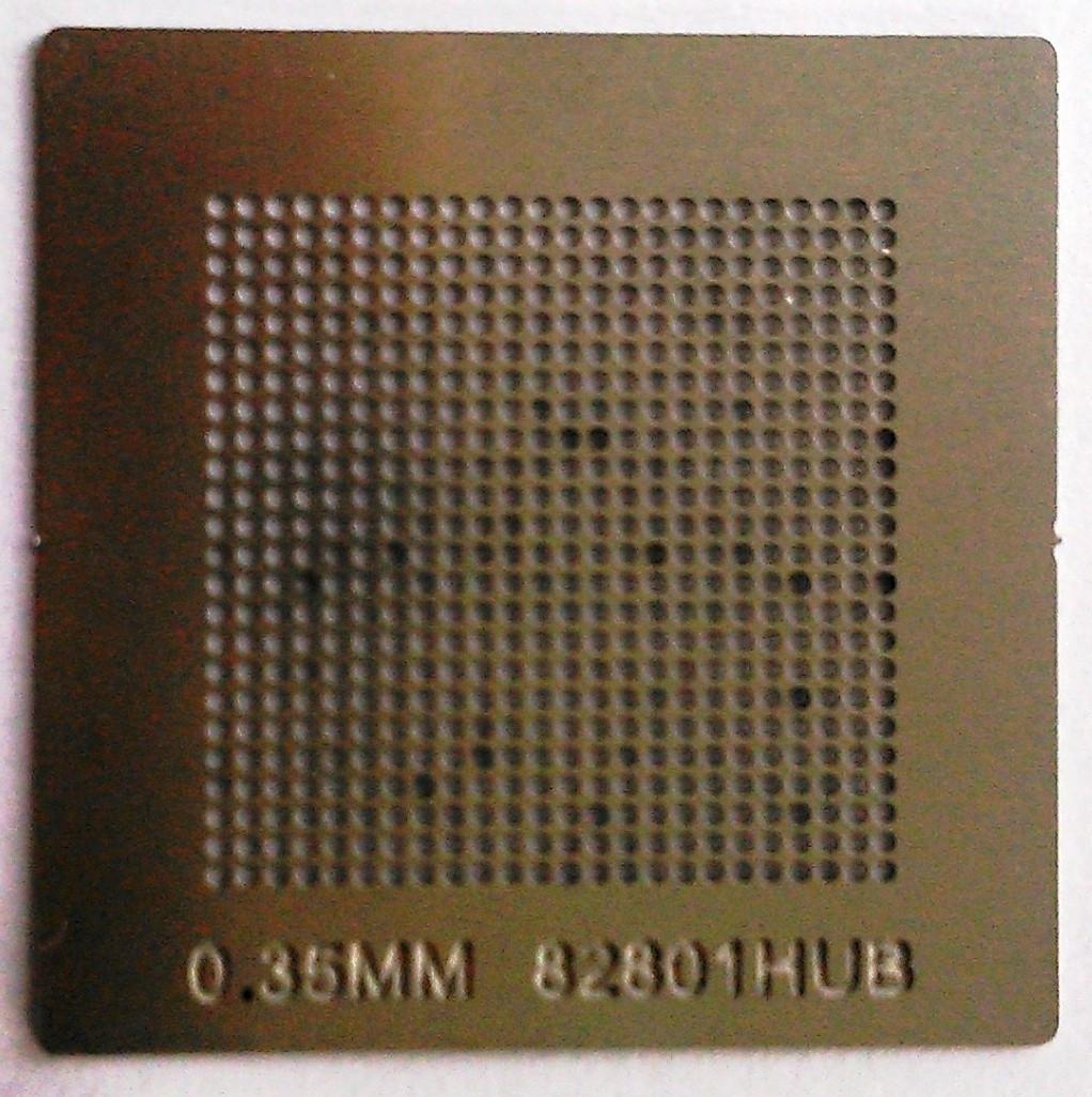 BGA трафарет 0,35mm 82801HUB