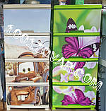 """Комод пластиковый, с рисунком """"Бабочка и орхидея"""" + рисунок на крышке, на 4 ящика, под заказ, фото 4"""