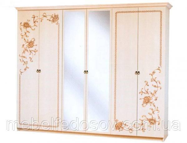 Шкаф 6Д Ванесса  (Світ меблів) 2762х640х2240мм
