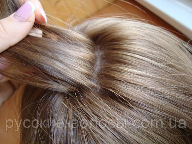 Дерганная макушка парика - имитация кожи.