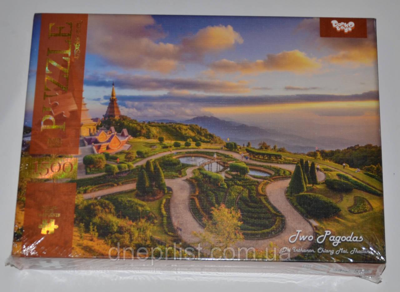 Пазл 1500 элементов / Two Pagodas (Тайланд)