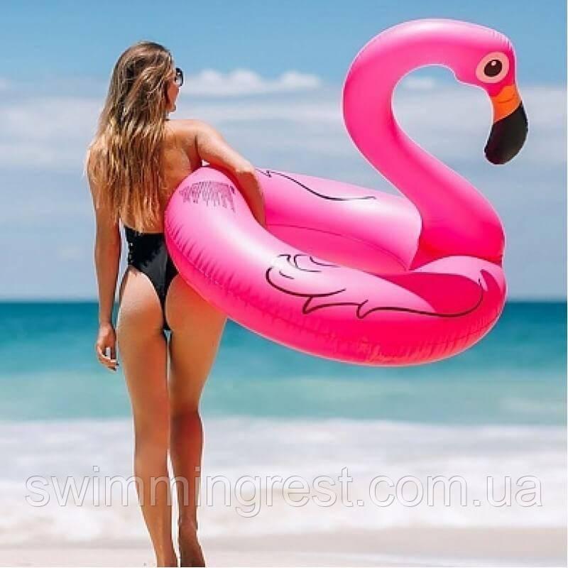 Огромный Надувной круг Фламинго 120 см