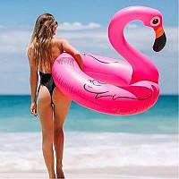 Огромный Надувной круг Фламинго 120 см, фото 1