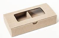 Коробка из гофрокаторна с окошком, 2 - 3 изделия, фото 1