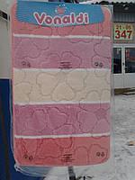 Коврик для ванной и туалета розовая полоска