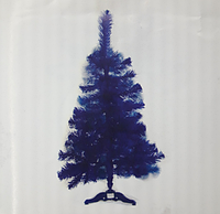 Искусственная елка синего цвета (синяя) 1,3 м.