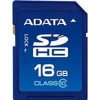 Карта памяти A-DATA SDHC 16GB class 10 флешка