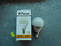 Светодиодная лампа 7w шарик FERON LB-95 E-14 2700K