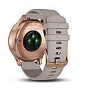 Garmin Vivomove HR Rose Gold Stainless Steel Case with Gray Suede Band, фото 5