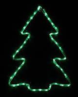 Гирлянда светодиодная внешняя DELUX MOTIF Christmas tree, 7 flash зеленый IP44 EN