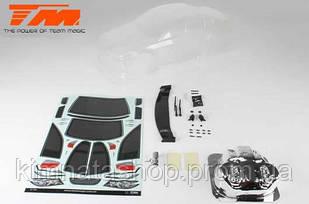 Team Magic K Factory TPR Touring Car Body (Clear, 190mm)