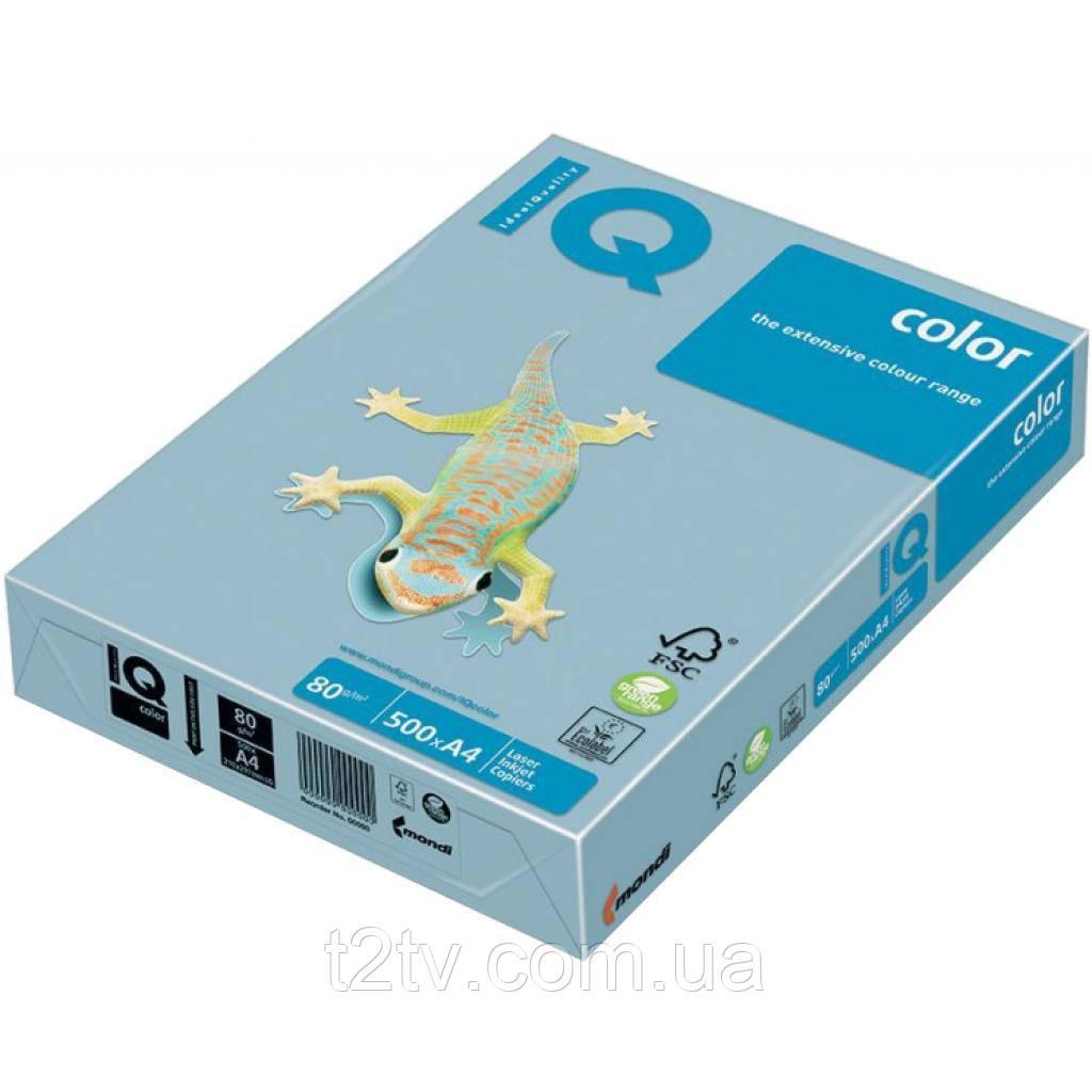 Бумага А4 IQ color, pale, 500sheets, ice blue Mondi (A4.80.IQP.OBL70.500)