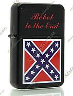 Зажигалка бензиновая «Rebel to the end» (color)