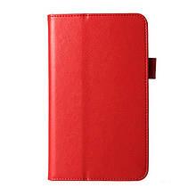 Чехол Подставка Crazy Horse PU Samsung Galaxy Tab 4 7.0 красный