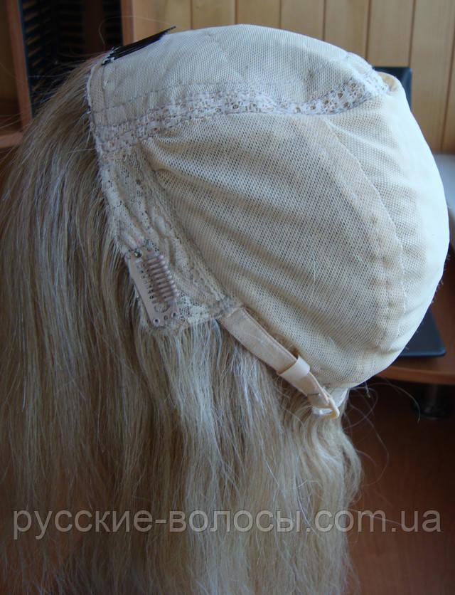 Вид изнутри натурального дерганого парика.