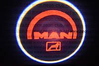 Подсветка дверей авто / лазерная проекция логотипа MAN | МАН