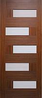 Дверь межкомнатная Домино ПВХ (черное стекло)
