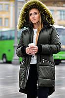 Женская парка куртка на меху (зимняя)