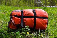 Тактический спальный мешок (до -4) спальник+компресионник для похода весна и осень