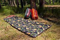 Спальный мешок (0/+8/+15) туристический для похода, для теплой погоды! Полоска