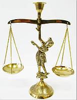 """Подсвечник """"весы"""" бронзовый (20х15х6,2 см) Индия"""