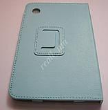 Голубой оригинальный кожаный чехол-книжка Folio Case для планшета Lenovo IdeaTab A3500 A7-50, фото 2