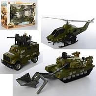 Игровой набор конструктор Военный транспорт 3539-6