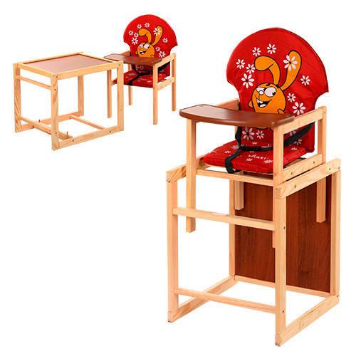 Стульчик для кормления трансформер деревянный М V-010-21-3 ***