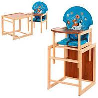 Стульчик для кормления трансформер деревянный  М V-010-25-6 ***