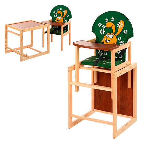 Стульчик для кормления трансформер деревянный  М V-010-22-3 ***