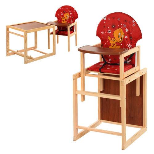 Стульчик для кормления трансформер деревянный  М V-010-21-7 ***