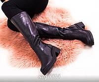 1bda2bcdd9d6 Кожаные сапоги VALENTINO Soul Rockstud на низком каблуке (реплика ...