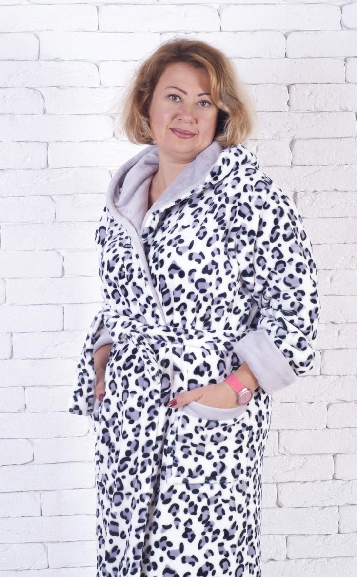848192a40691b Купить Женский длинный махровый халат Долматин продажа в интернет ...