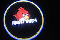 Подсветка дверей авто / лазерная проeкция логотипа Angry birds | Энгри бердс