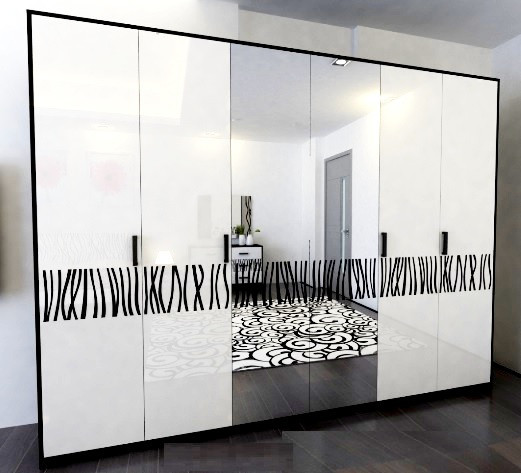 Шкаф Терра 6Д с зеркалом Миро-Марк