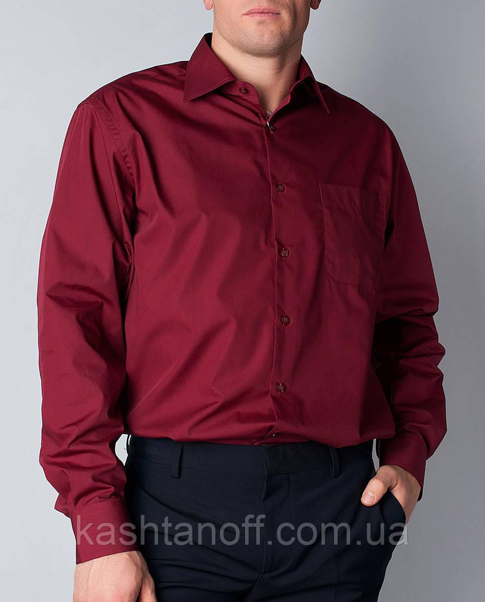2bbe2310a93 Бордовая рубашка - Интернет-магазин КАШТАН Мужская